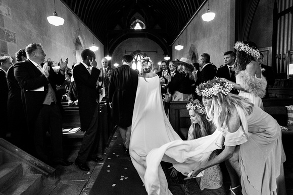 Wales Dress Church Wedding Photographers