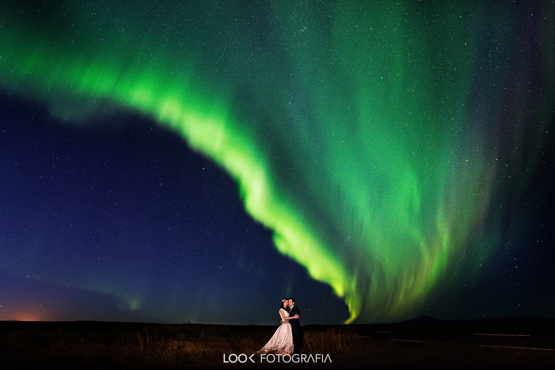 Photos Northerm Ligth Wedding Iceland Aurora borealis wedding Iceland