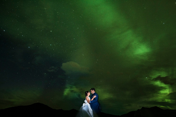 Aurora borealis wedding Photography Iceland