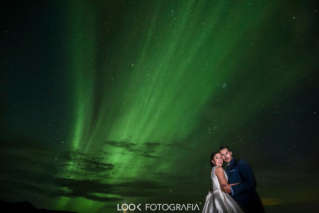 Aurora borealis wedding Iceland Northern Lights Wedding Photography